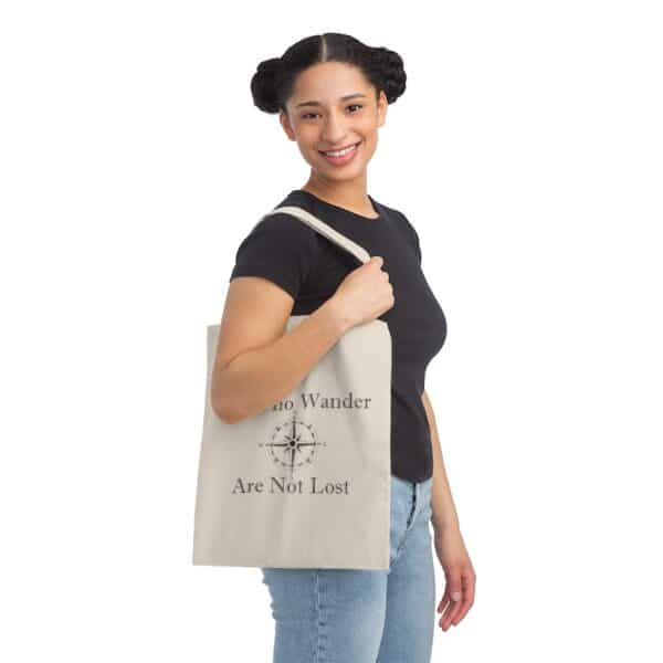 all who wander are not lost - canvas tote bag