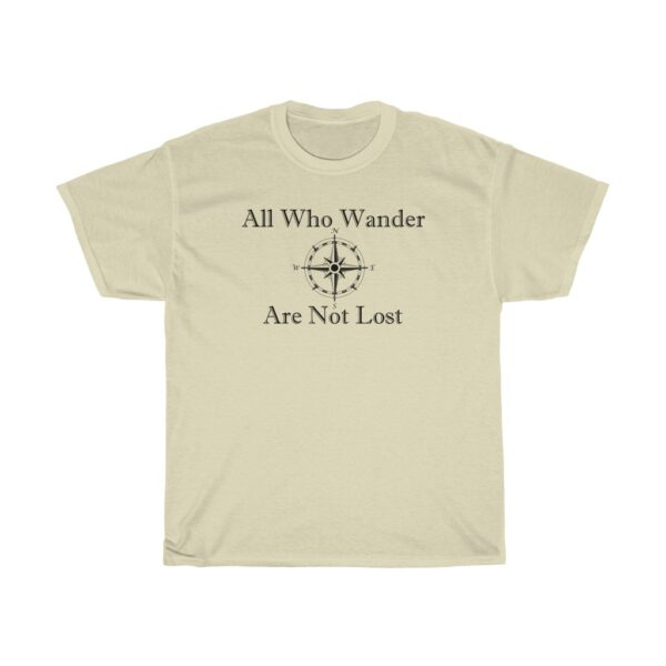 all who wander - kayak t-shirts - unisex heavy cotton tee - 4xl, natural