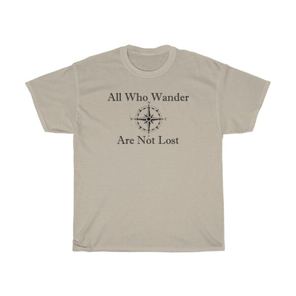 all who wander - kayak t-shirts - unisex heavy cotton tee - 5xl, sand