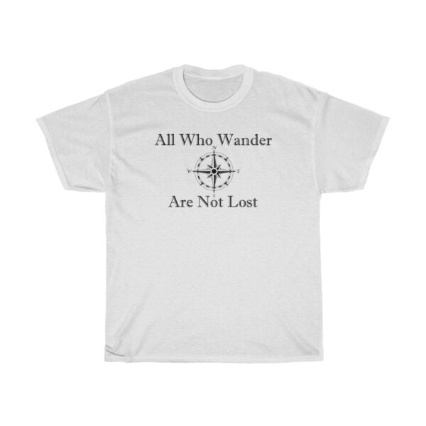all who wander - kayak t-shirts - unisex heavy cotton tee - 5xl, white