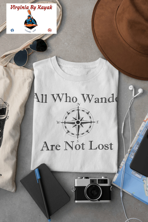 all who wander - kayak t-shirts - unisex heavy cotton tee
