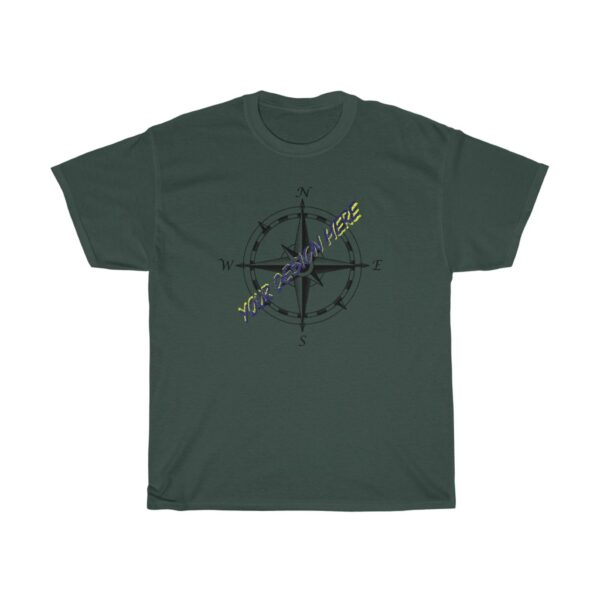 custom kayaking t-shirts - we print your design - unisex heavy cotton tee - 3xl, forest green