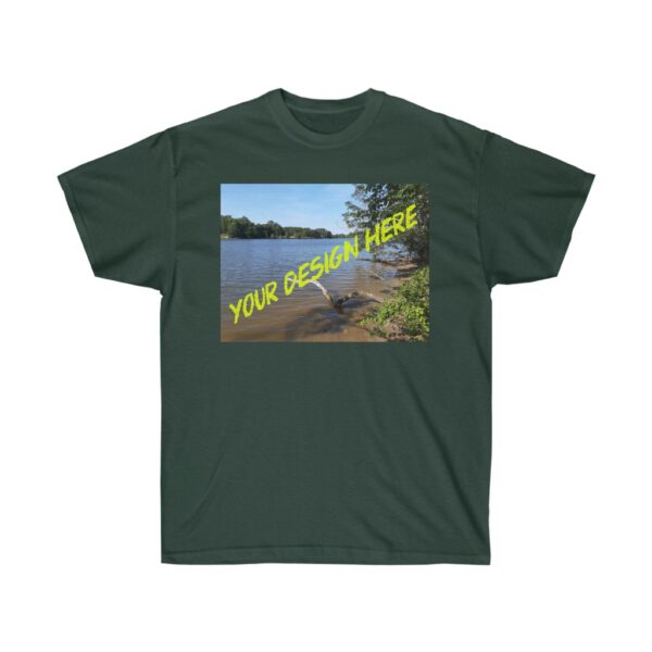 custom kayaking t-shirts - we print your design - unisex ultra cotton tee - forest green, xl