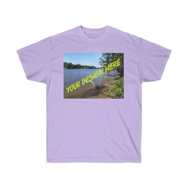 custom kayaking t-shirts - we print your design - unisex ultra cotton tee - orchid, 5xl