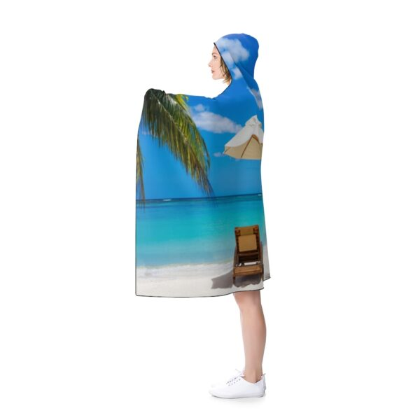 it's just another day at the beach! hooded blanket