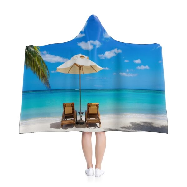 it's just another day at the beach! hooded blanket - 80x56