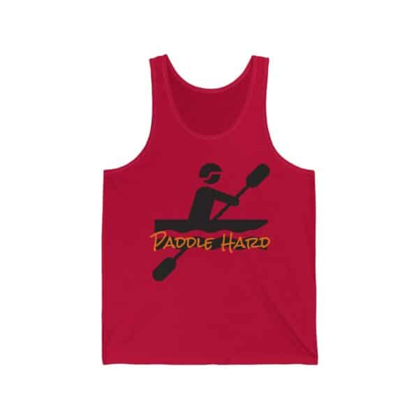 paddle hard - unisex jersey tank top - light colors - red, 2xl
